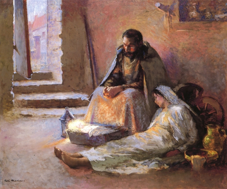 The Nativity , Gari Melchers ( source )  [H/T:  Diary of an Arts Pastor ]