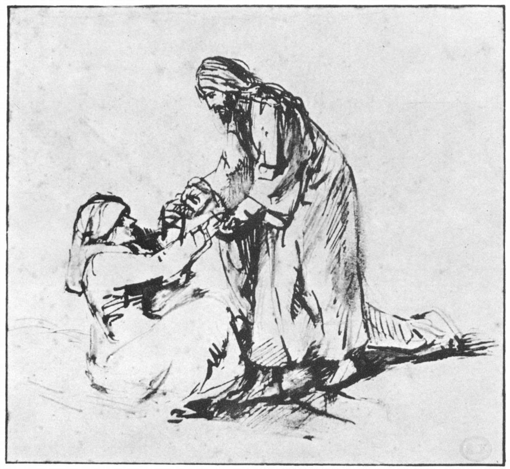 Christ Healing Peter's Mother-in-law,  Rembrandt Harmenszoon van Rijn, 1606-1669 (source)