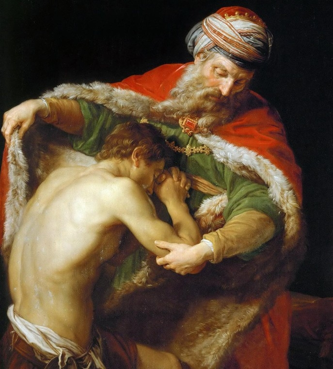 The Return of the Prodigal Son  by Pompeo Batoni ( h/t )