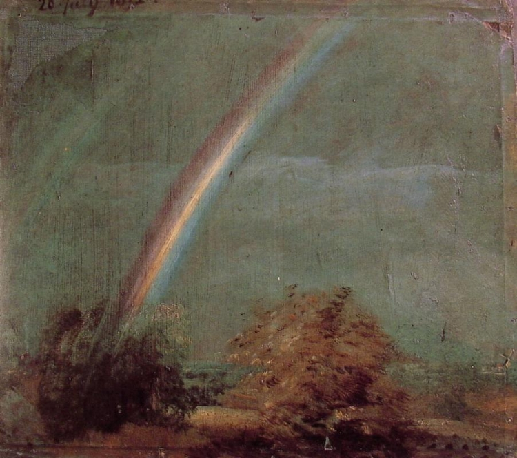 Landscape With A Double Rainbow  by John Constable  (source )