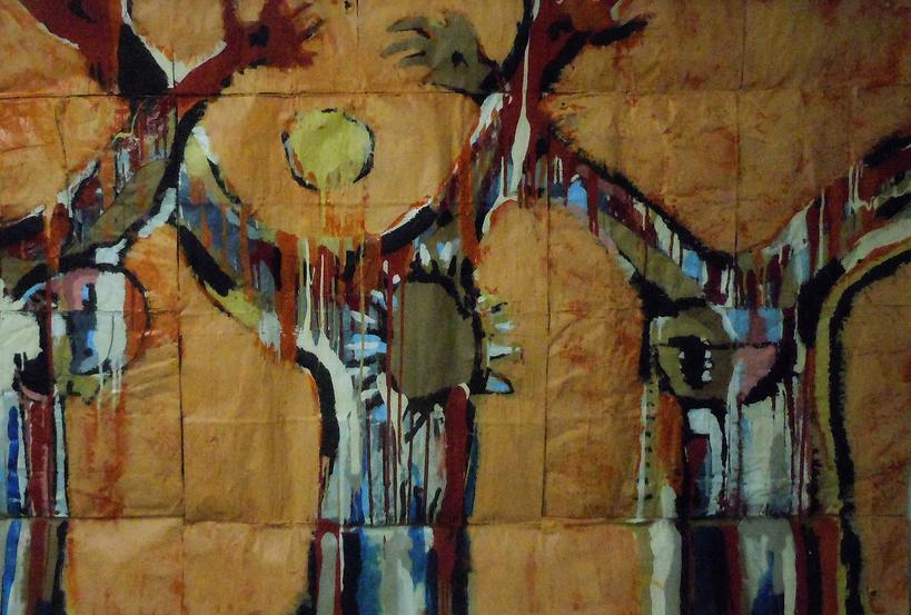 Falling-Three Crucifixions  by Daniel Bonnell ( source )