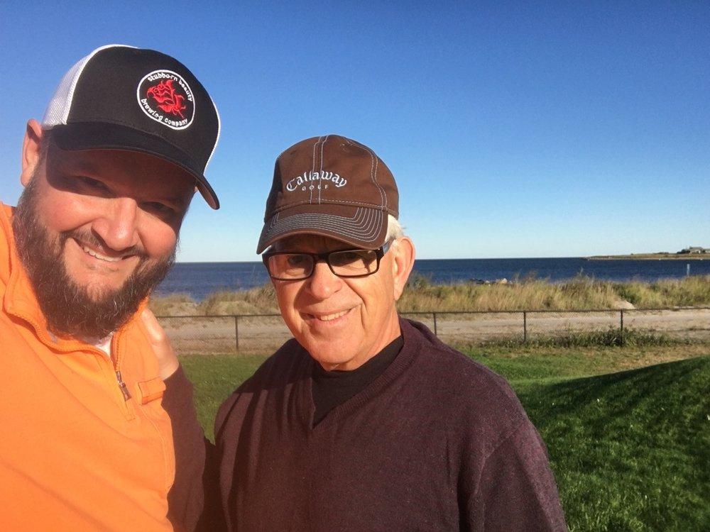 Dad & Brian golf
