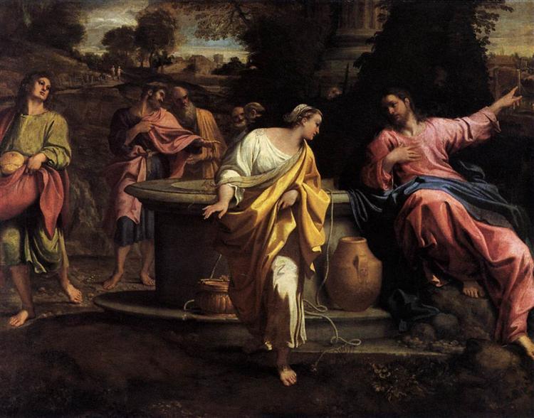 The Samaritan Woman at the Wel l, Annibale Carracci   Source