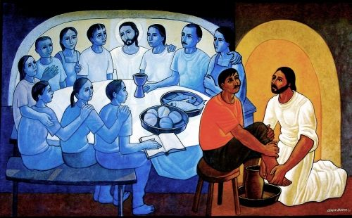 The Washing of the Feet , Cerezo Barredo   Source