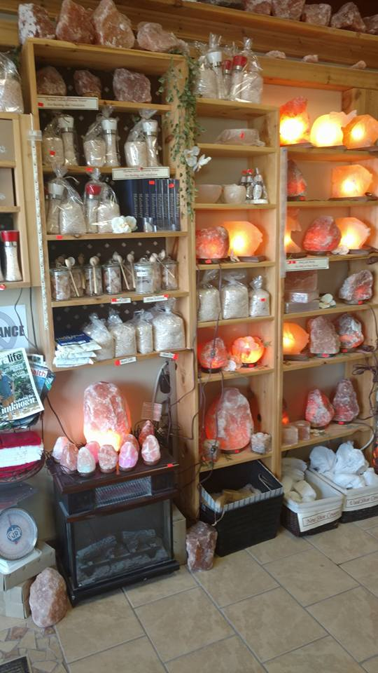 Salt lamps release negative ions which reportedly can be beneficial.