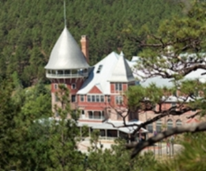 The lovely famed Armand Hammer Castle, right next to the Pecos and the hot springs. There are rumored tunnels beneath this castle, that go from one side of the river under it and to the other side.