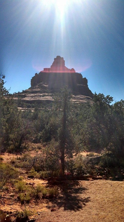 Bell Rock, lovely hike. I passed several people meditating and doing yoga on different levels up. Bring good shoes and water.