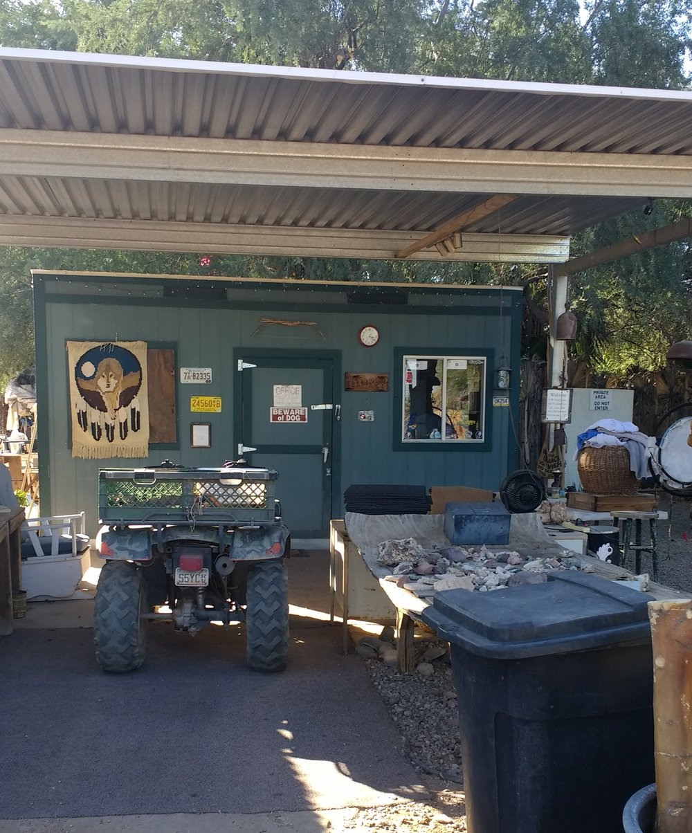 Where we get the towels and pay the man.  I really love fun quirky places. This one is a true GEM. They offer camping and you can rent a small room/cabin if you are interested. Seems like it might be a fun get away weekend.
