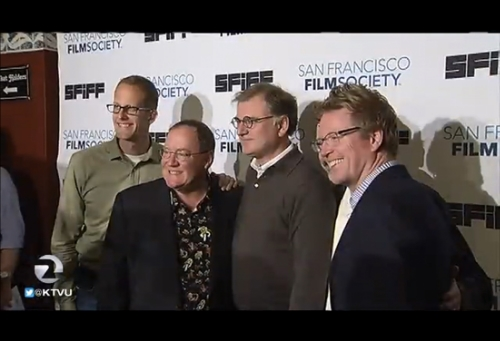 Founding Pixar members John Lasseter, Ed Catmull, Andrew Stanton, and Pete Doctor