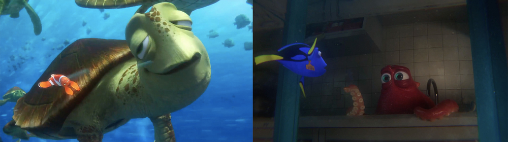 Instead of relying on characters from previous films,  Finding Dory  adds a new cast of characters