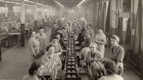 During WW II, women were welcomed into the workforce