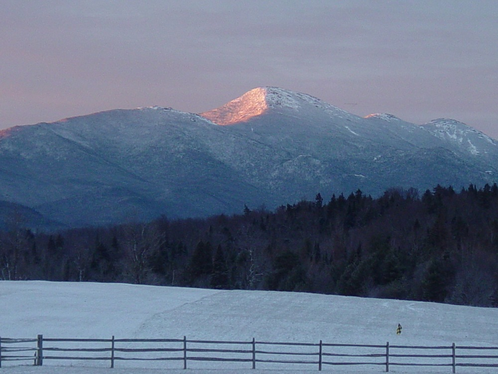 Mount Marcy at dawn, from John Brown Road, Lake Placid