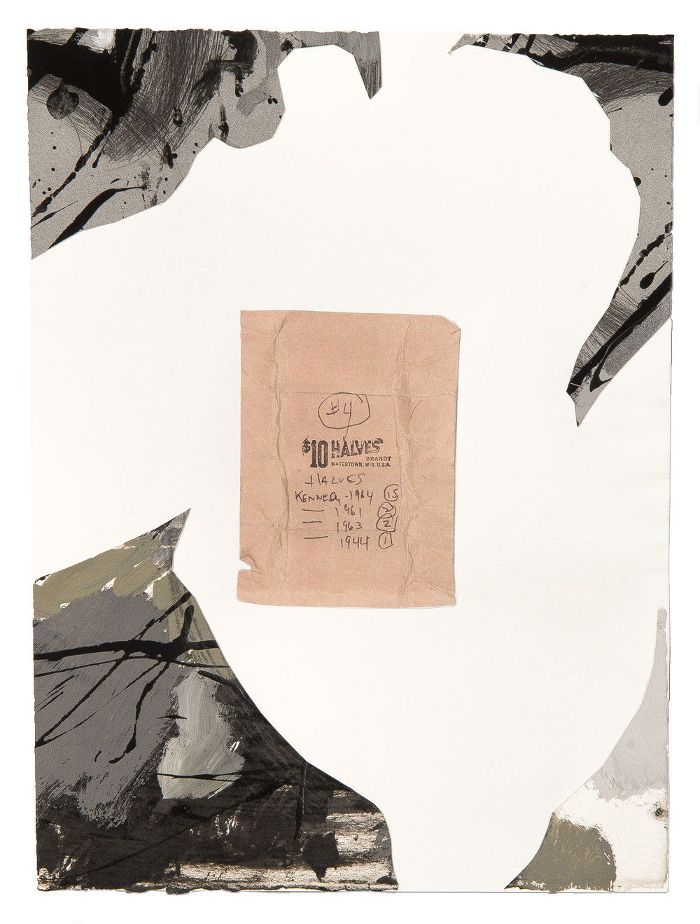 Collage Series with Bank Envelopes (Mourning) #5