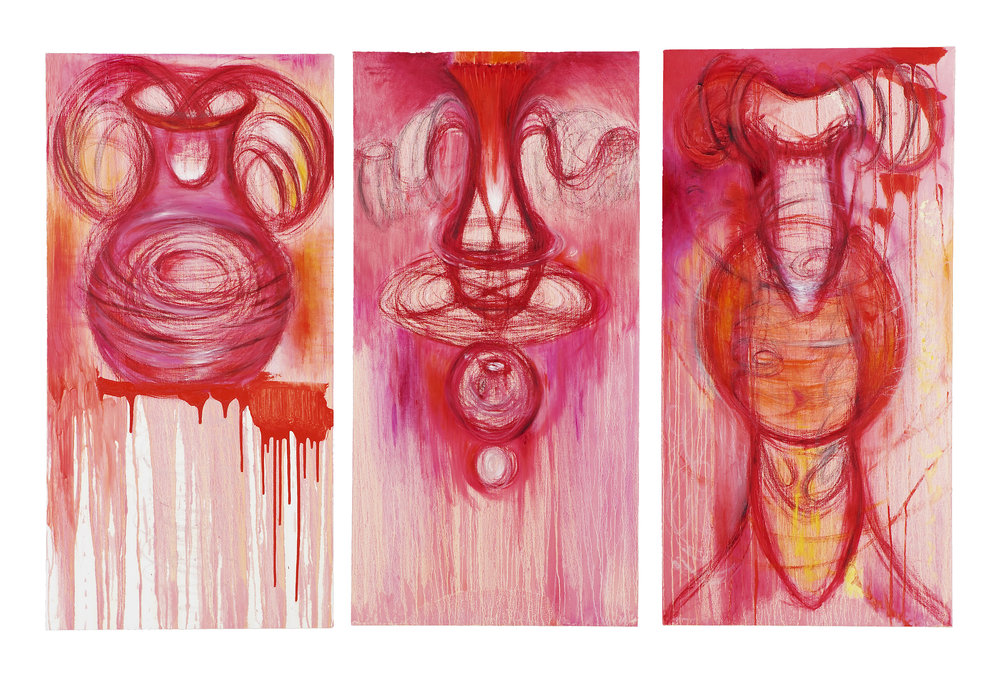 Pink Triptych