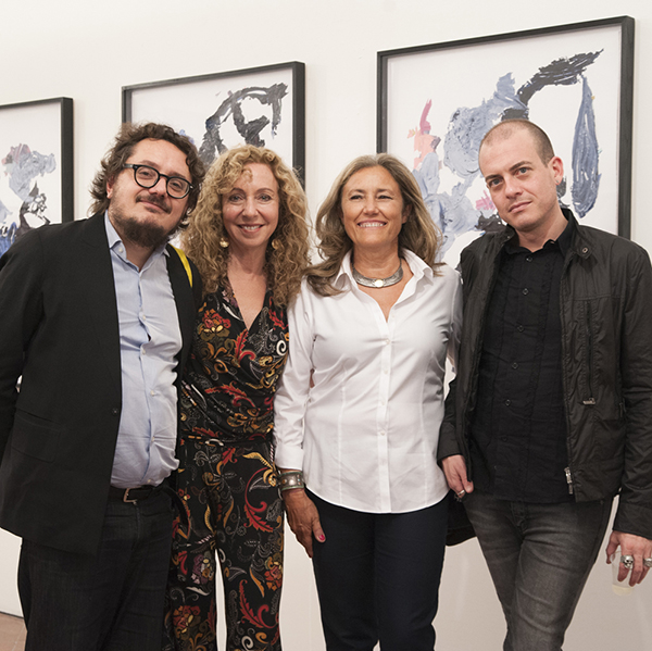 Sykes shown with Andrea Viliani, Director of Museo Madre; Daniela Ricci, journalist for Il Mattino and exhibition curator; and Eugenio Viola