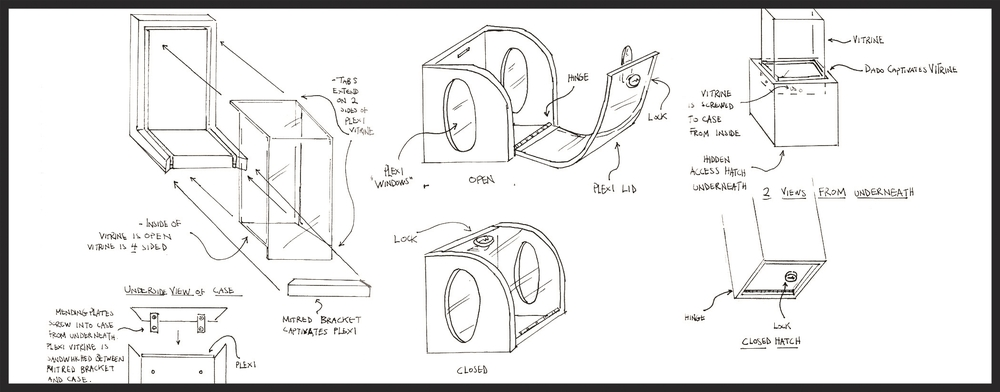 Preliminary case concepts that were not used in the final design.