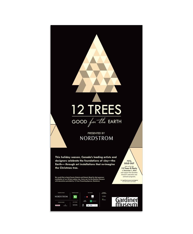 12 TREES EXHIBITION - exhibition branding // gardiner museum // 2016