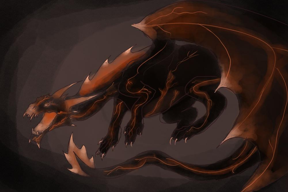 Fire Dragon concept art by Nicole Cortese