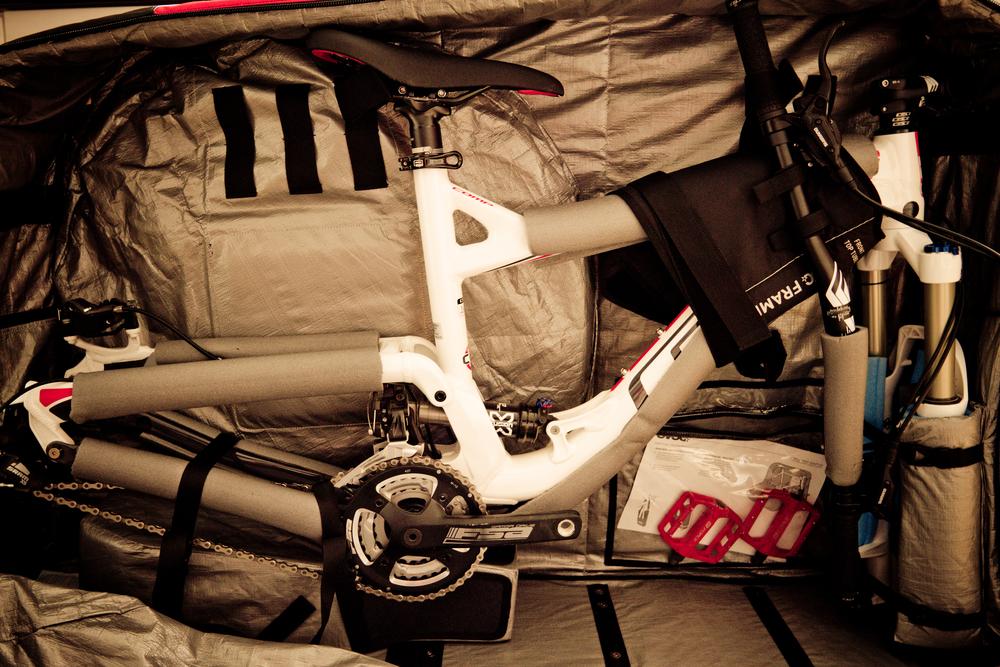 Evoc bike bag.