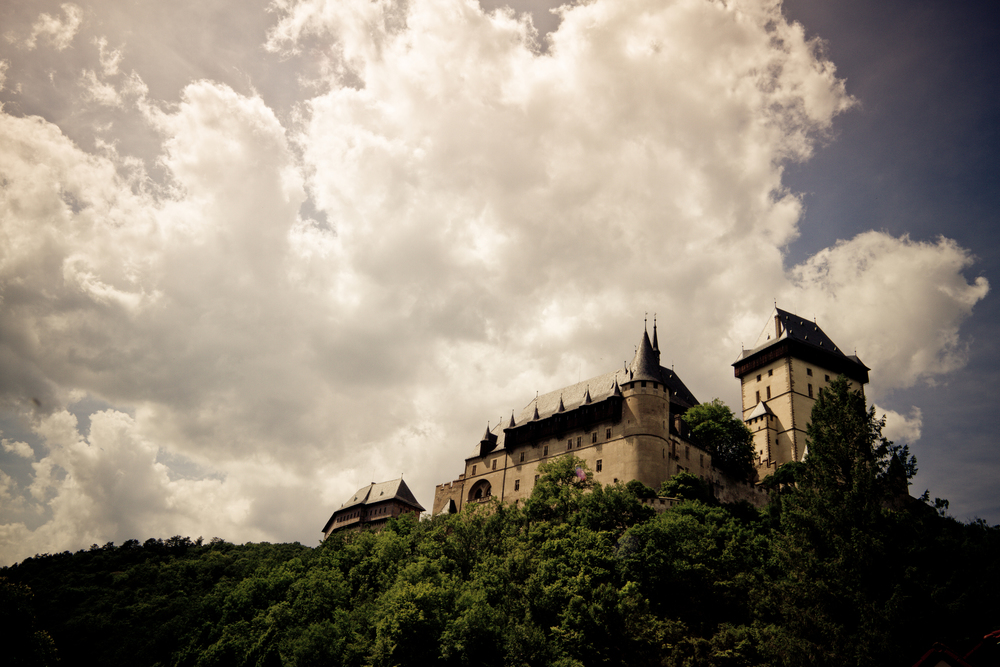 Karlštejn castle mtb
