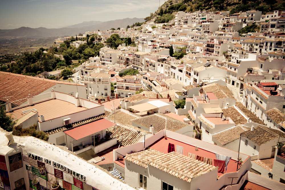 The city of Mijas, one of the most beautiful old cities in Southern Spain.