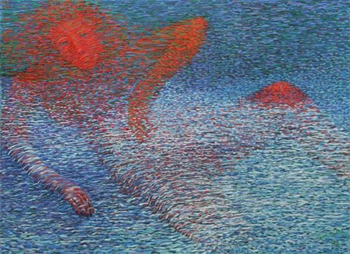 Red Woman of the Lake  72 X 48