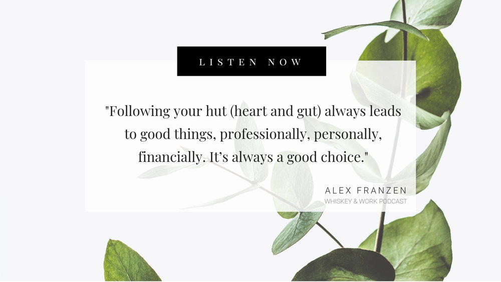 Alexandra Franzen Whiskey and Work Podcast with Kelsey Murphy
