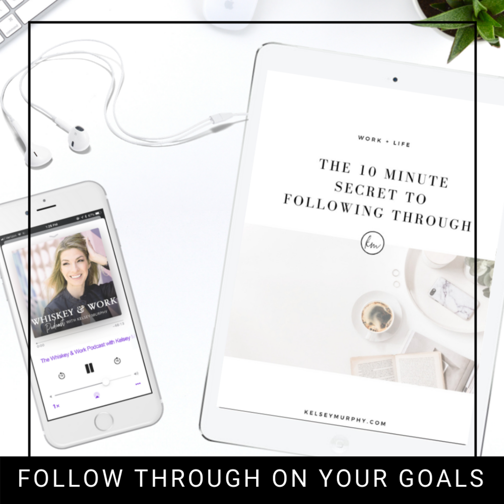 FREE GUIDE TO FOLLOWING THROUGH ON YOUR GOALS  - In only 10 minutes and 3 simple steps, you will learn consistency to follow through on your goals.
