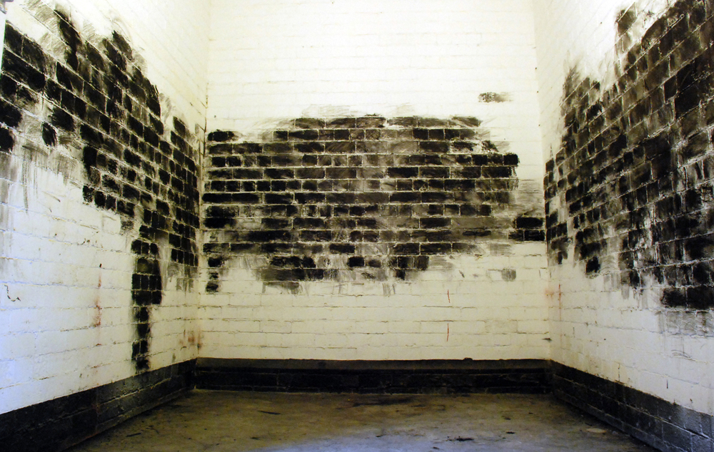 'Blacking' performance. Separations exhibition, Leeds 2008. Copyright Victoria Lucas. .jpg