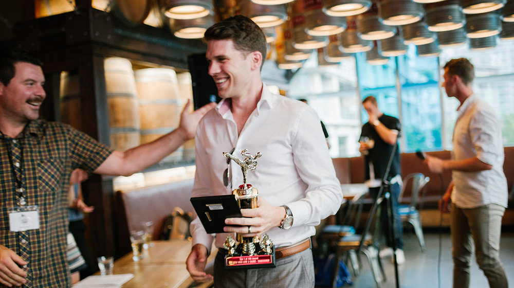 The inaugural 1 of 100 award winner:  Danny Matthews