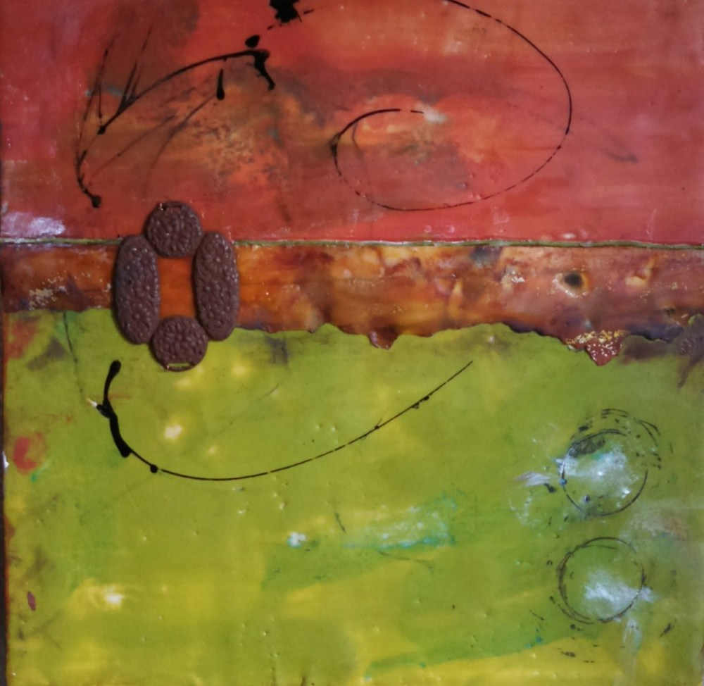 "12""x12"" Encaustic Mixed Media (sold)"