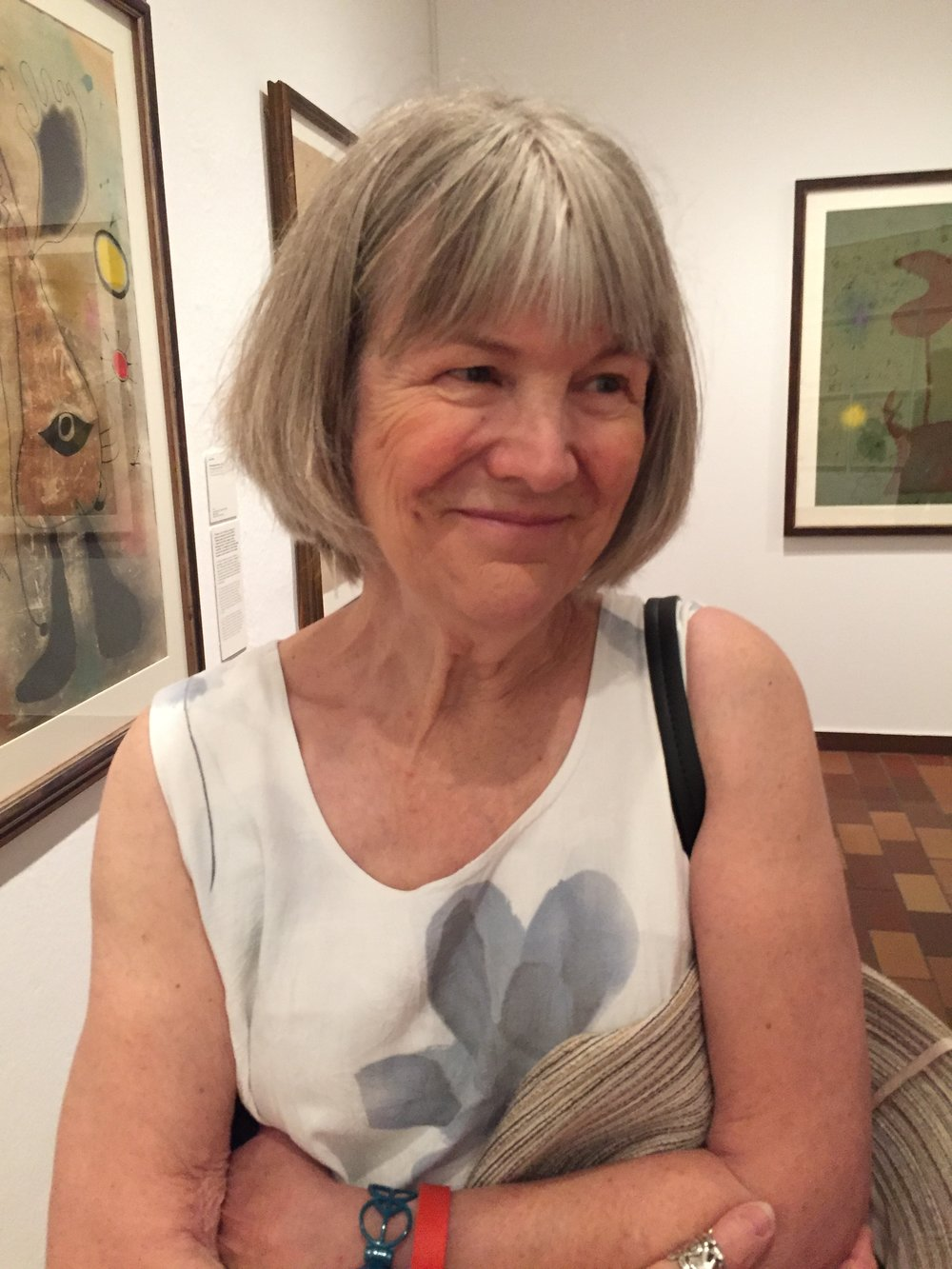 Judy in the Miro Museum in Barcelona