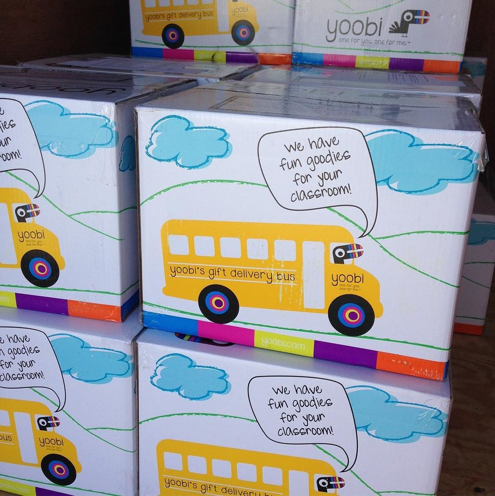 PENCIL, Yoobi & Untied4Hope helped us deliver 75 boxes of school supplies to Whitsitt Elementary last fall!