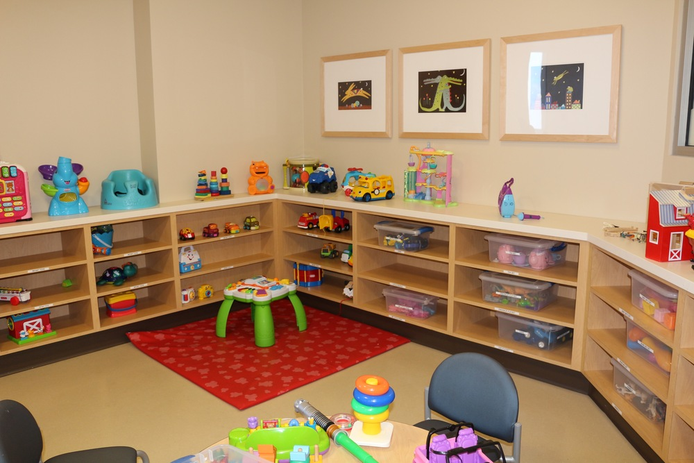The playroom on C7 tends to see a lot of neuro patients. It's evident most of these toys are not interesting to kids above the age of 7 or 8.