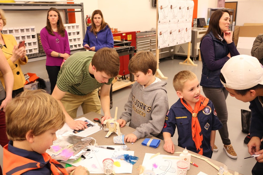 Teaching Vibrobots to Cub Scouts.