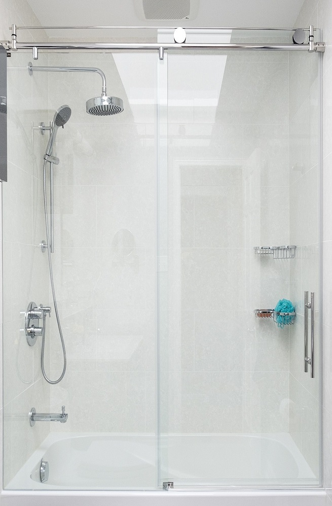 Frameless glass shower doors china pivot aluminum for Frameless shower doors cost