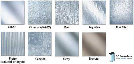 Types Of Shower Door Glass Design Decoration