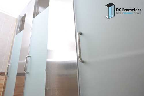 frosted-shower-door