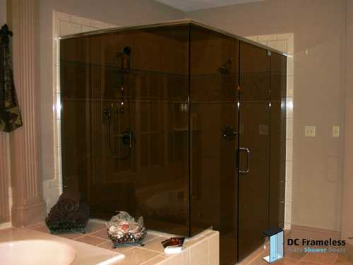 Bronze Shower Glass — DC Frameless Glass Shower Doors | (202) 800 ...