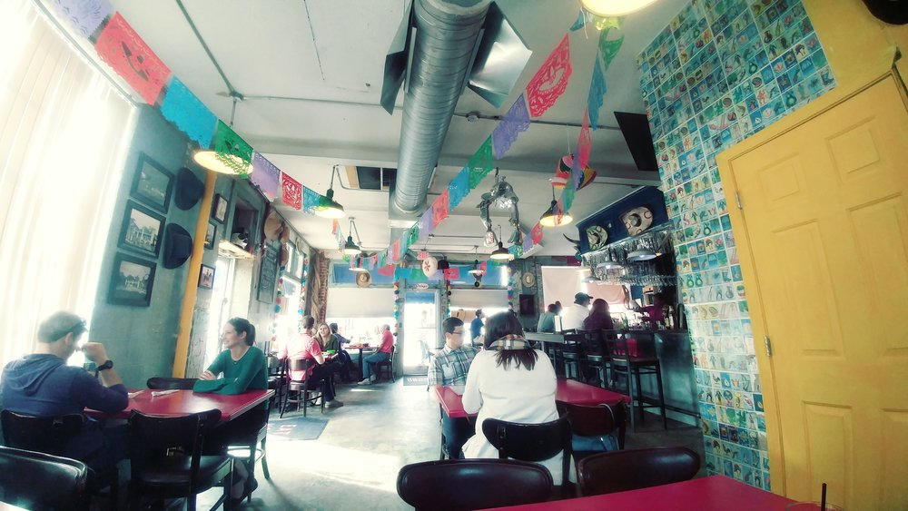 This picture was taken at Gringo a Go Go - One of the best Mexican restaurants I've eaten at in Raleigh.
