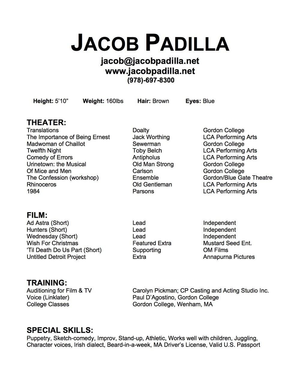 Resume Jacob Padilla