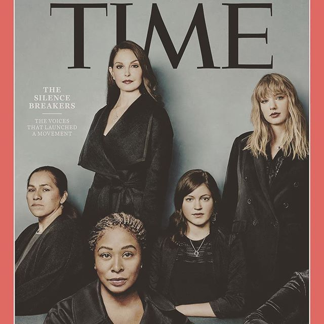 ENOUGH is ENOUGH  Grateful to all of the brave souls who have taken a stand and leading this movement of Claiming our POWER.  United we will rise 💕 ___ @time The Silence Breakers are TIME's Person of the Year 2017. Photographs and cover composite by Billy & Hells for TIME ___ #TIMEPOY#thesilencebreakers #timemagazine #time #timepersonoftheyear #womenoftheyear #metoo #speakout #mjlifestyle