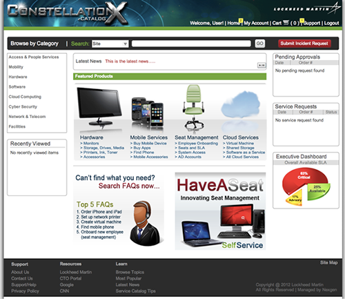 Home page for the redesigned catalog.