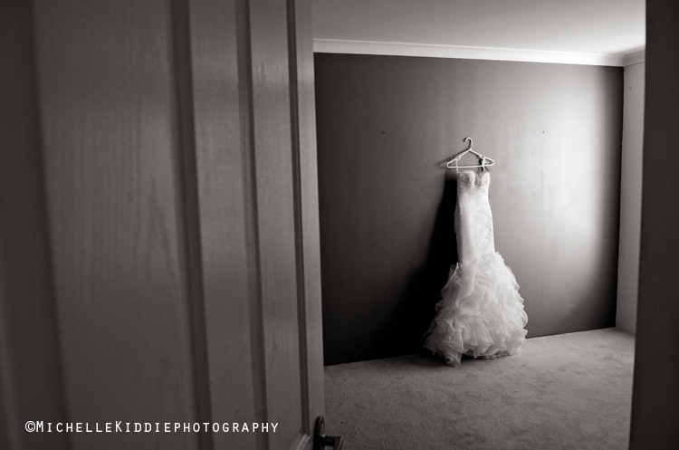 wedding dress from hobnobs, Mt Lawley waits to be worn