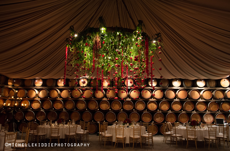 Sandalford Winery - With low mood lighting and wine barrells lining the walls, the Oak Room or under ground cellar at Sandalford Winery will quite simply will take your breath away when they are set up in the evening for a wedding. Check out some weddings photographed by Michelle Kiddie Photography by clicking on these links.Nicole and Jack; Caolan and Emma