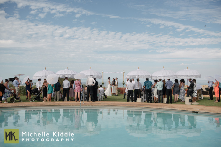 - Another popular choice for Exmouth ceremonies is the beautiful poolside at Novotel Hotel resort itself. A truly magical wedding awaits here. Click here to view some weddings I have photographed: Ange and Pete; Tarna and Ross.