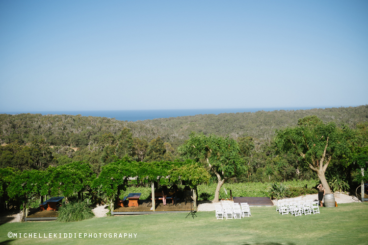 Wise Winery with views of vineyards stretching to the Indian Ocean.