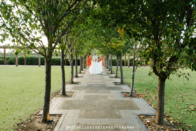 The gardens at Xanadu Winery provide a stunning setting for ceremonies and canapés.