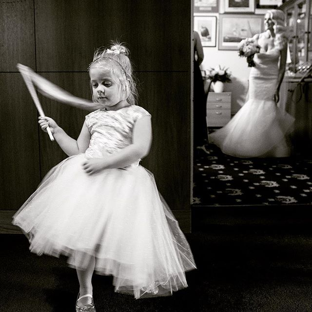 There's a lot of waiting around when you're a flower girl. But this little cutie kept herself amused at Hayley and Joel's wedding.  #flowergirls  #perthweddings  #freshwaterbayyachtclub  #perthweddingphotographer  #perthweddingphotography