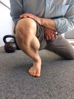 Half kneeling ankle